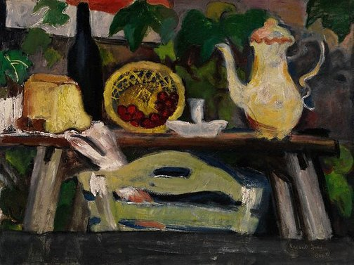 An image of (Kitchen scene) by Judy Cassab