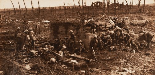 An image of Ypres sector by Frank Hurley