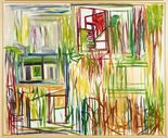 Alternate image of Window, houses and trees by Ken Whisson