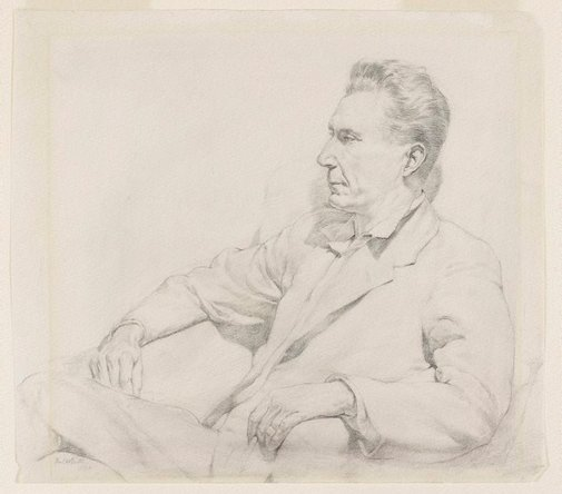 An image of Portrait of a man seated by Fred Britton