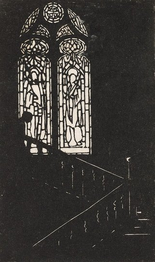 AGNSW collection Ethel Spowers The staircase window 252.1975