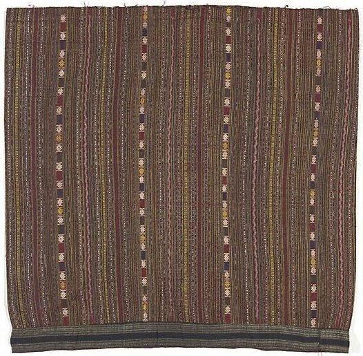 An image of 'Sin mii khan' (striped ikat tube skirt)