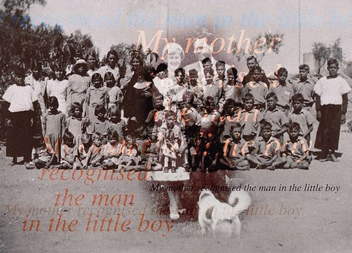 An image of My mother recognised the man in the little boy by Brenda L Croft