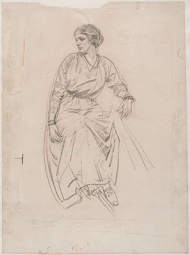 An image of Seated woman