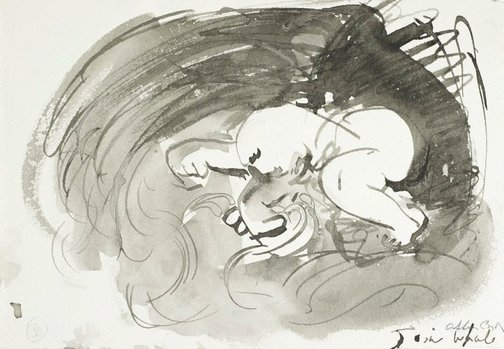 An image of (Illustration for 'Jonah' p.40) by Arthur Boyd