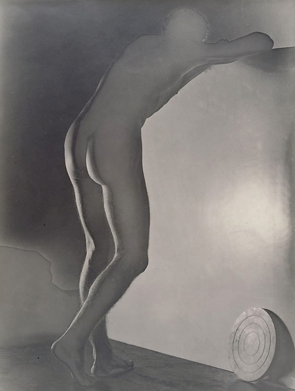 An image of Untitled (leaning nude with discus)