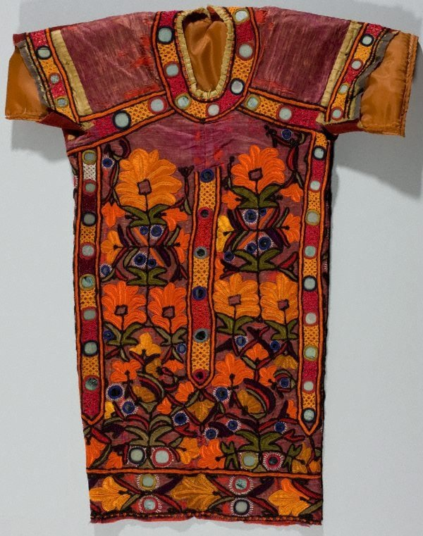 An image of Mirror work 'choli' (blouse)