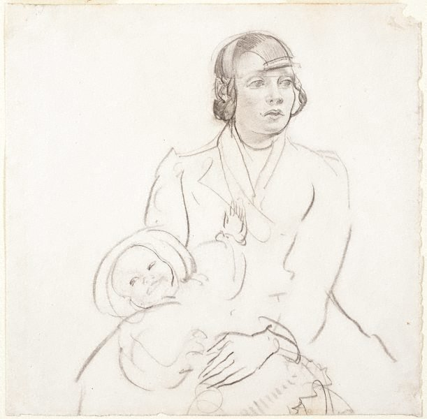 An image of Coster girl and child
