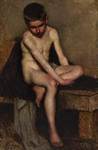 An image of Untitled (Nude study of a boy) by Hugh Ramsay