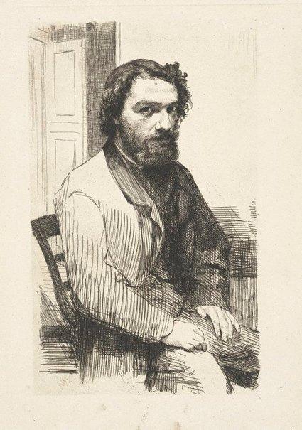 An image of Alphonse Legros by Félix Bracquemond
