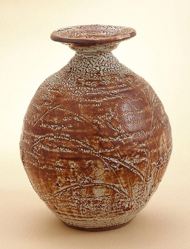 An image of Jar with Shino-type glaze