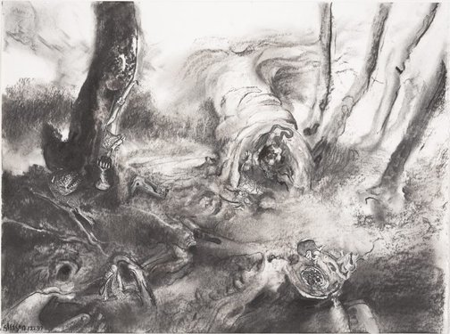 An image of Study for 'Within a waiting grove' by James Gleeson