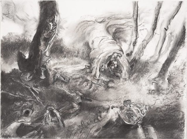 An image of Study for 'Within a waiting grove'