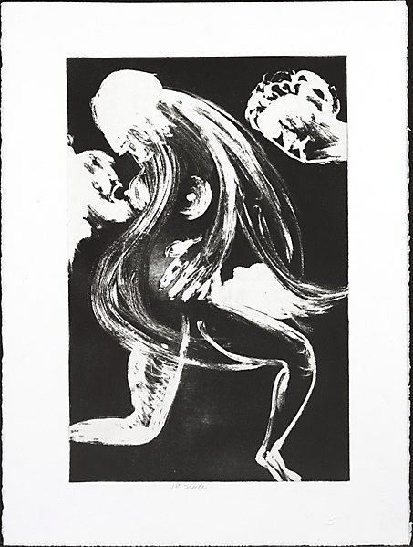 "An image of ""Beauty bares her secret breast"" by Arthur Boyd"