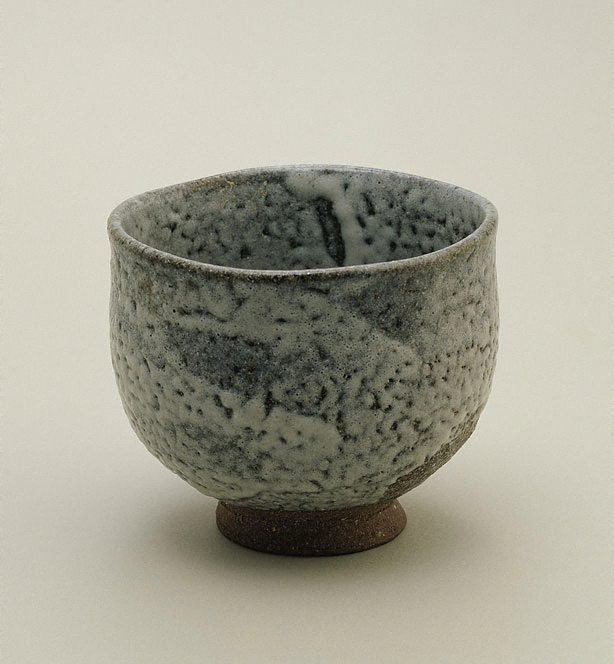 An image of Tea bowl with ash glaze