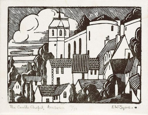 An image of The castle chapel, Amboise by Eveline Syme