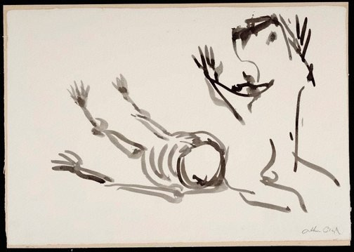 An image of (Illustration for 'Jonah' p.50) by Arthur Boyd