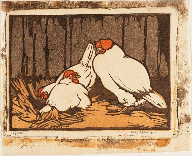 An image of Chooks in the straw
