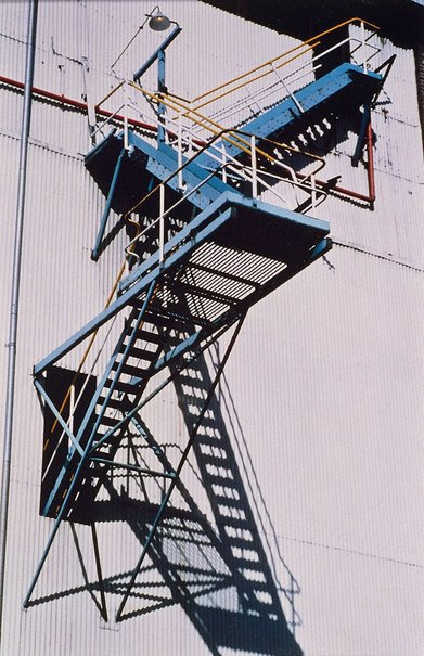 An image of Iron stairs by Lewis Morley