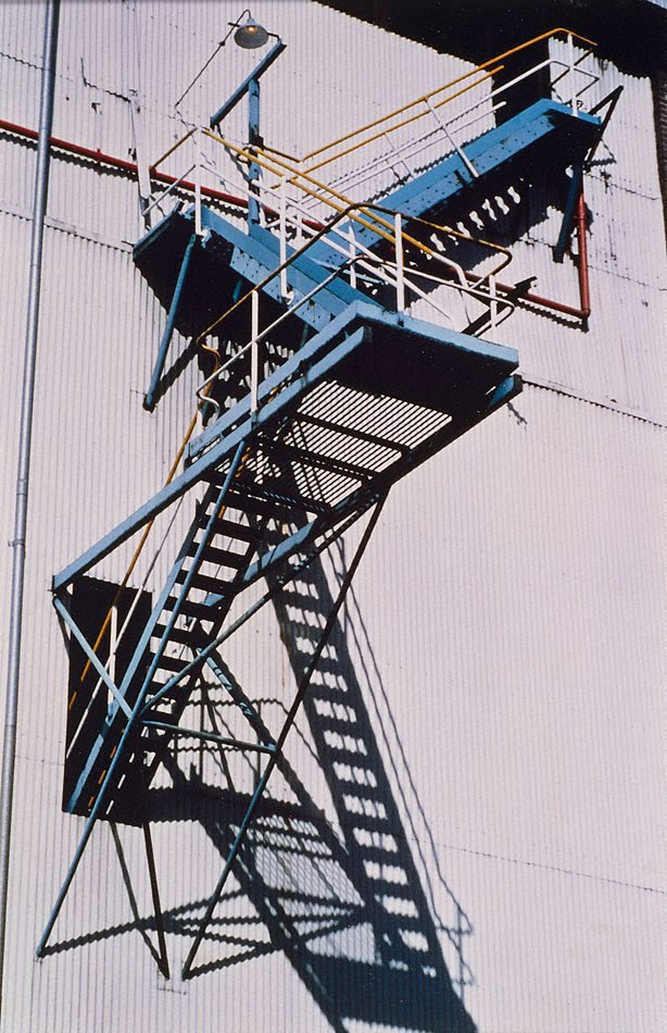 An image of Iron stairs