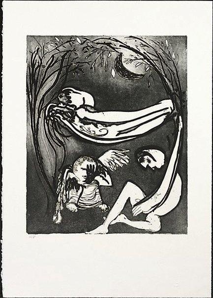 An image of Hammock lovers by Arthur Boyd