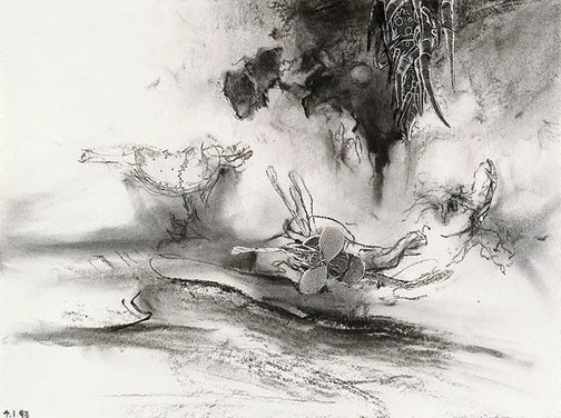 An image of Study for 'A night-attack' by James Gleeson