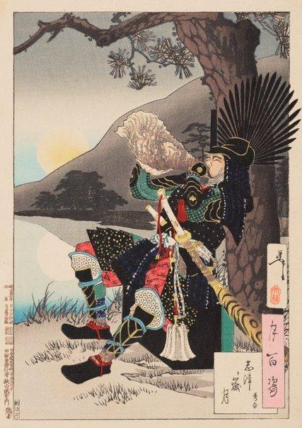 An image of Shizu Peak moon -  Hideyoshi by Tsukioka Yoshitoshi