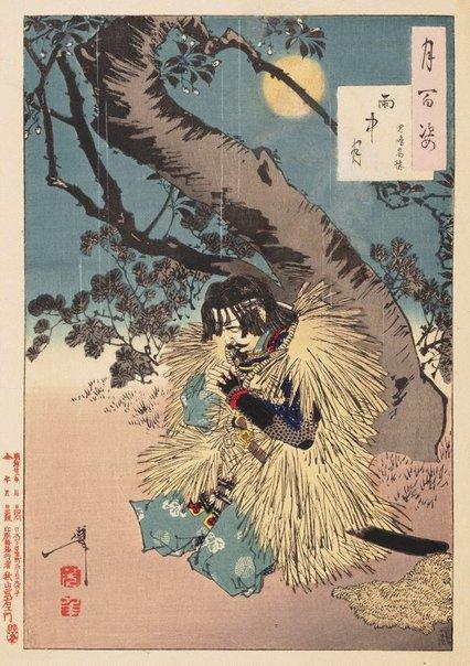 An image of Rainy moon - Kojima Takanori by Tsukioka Yoshitoshi