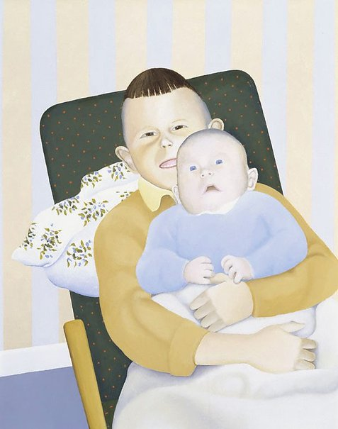 An image of Two young persons in a modern interior by Chris O'Doherty