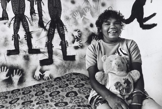 An image of Nellie Coffey in her bedroom, Dodge City, Brewarrina