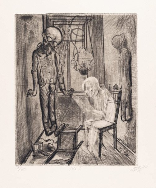 An image of The suicide by Otto Dix