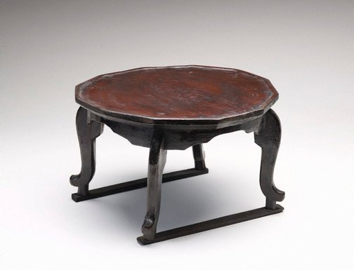 An image of Tray table ('soban') with dodecagonal top and 'tiger' legs by