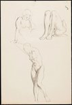 Alternate image of recto: Studies of a female nude, London verso: Studies of a female nude, London by Nora Heysen
