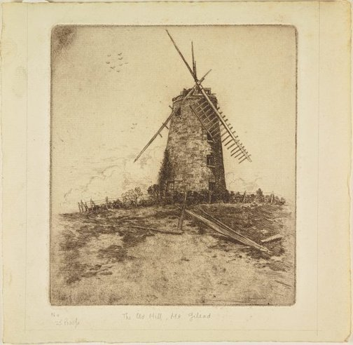 An image of The old mill, Mt Gilead by Sydney Ure Smith