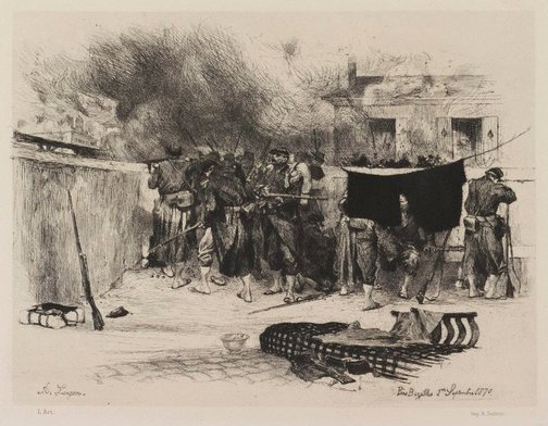 An image of Near Bazeilles by Auguste Lançon