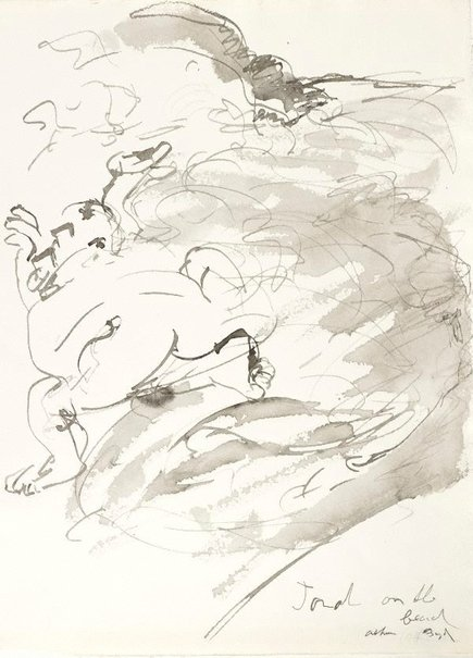An image of (Illustration for 'Jonah' p.60) by Arthur Boyd