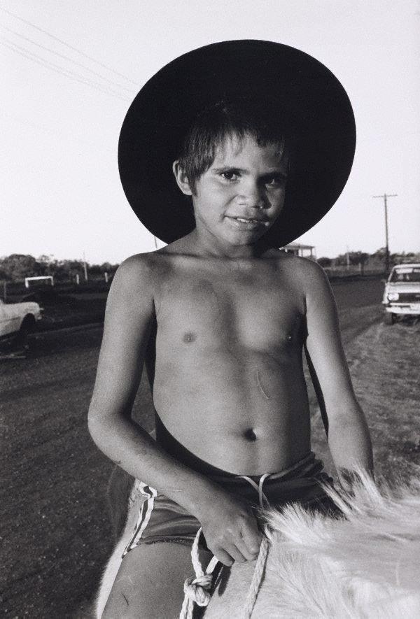 An image of Sono on horseback, Dodge City, Brewarrina