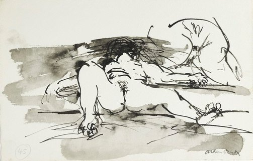 An image of (Illustration for 'Jonah' p.61) by Arthur Boyd