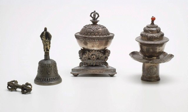 An image of Set of four miniature enthronement implements