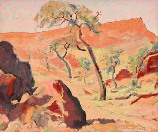 An image of Mt Gillen by William Frater