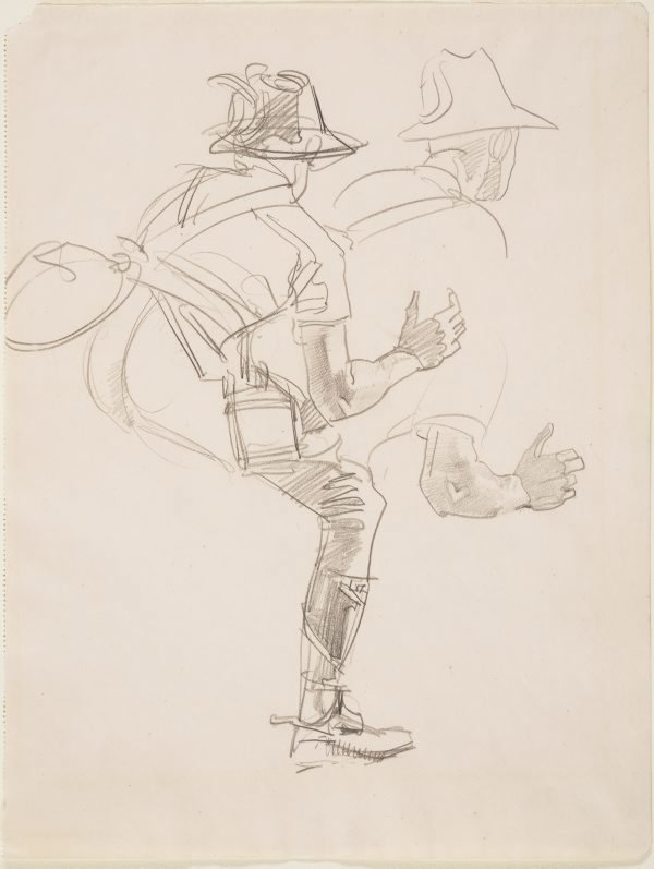 An image of A trooper of the Light Horse (Study for 'The Charge of the 4th Light Horse Brigade at Beersheba')
