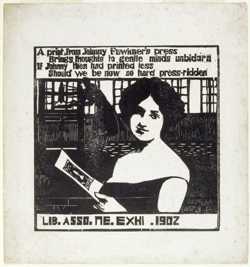 An image of A print from Johnny Fawkner's press by Blamire Young