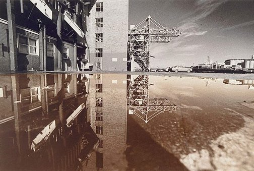 An image of Reflected crane by Lewis Morley