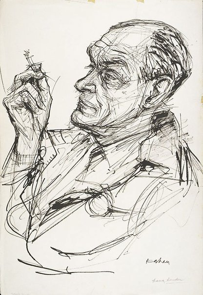An image of Frank Hinder by Louis Kahan