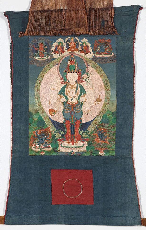 An image of Eleven headed 1000 armed Avalokiteshvara