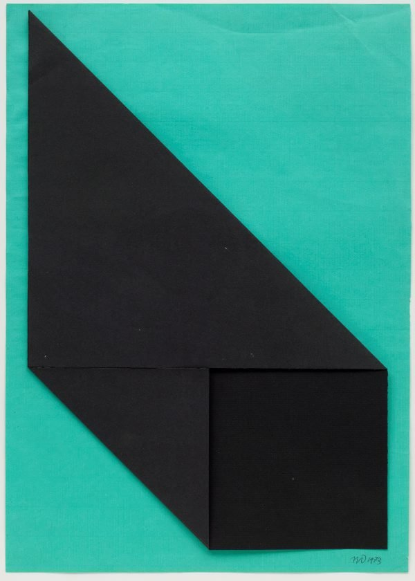 Two fold homage to a square, (1973) by Michael Johnson