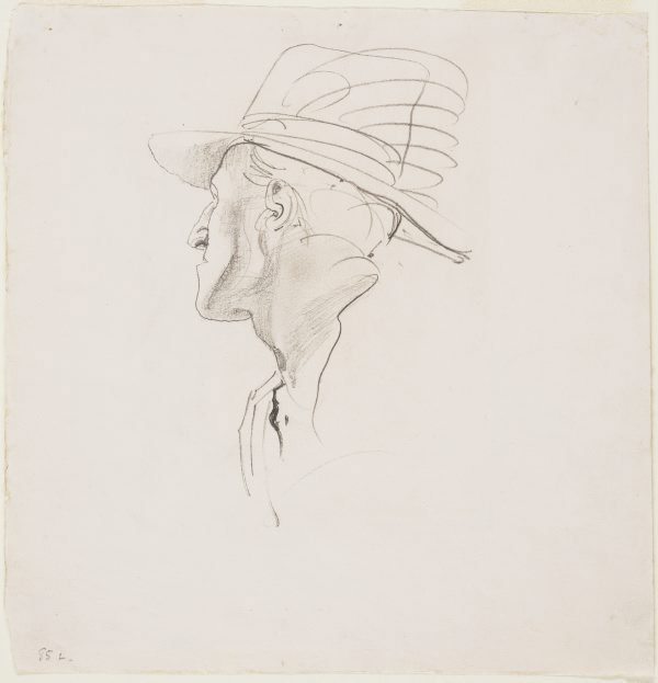 An image of Head study of soldier for 'The Charge of the 4th Light Horse Brigade at Beersheba'