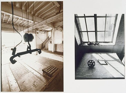 An image of Loading dock, iron locker by Lewis Morley