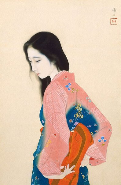 An image of Beauty looking back by Tadaoto Kainoshô