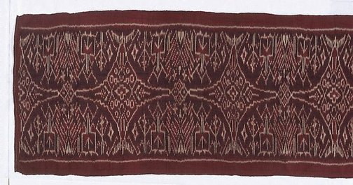 An image of ceremonial cloth ('geringsing') by